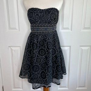 FREE PEOPLE Layered Floral Strapless Dress